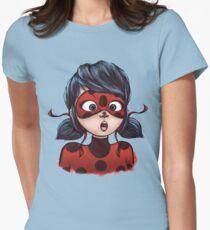 Ladybug Meets Ladybug Women's Fitted T-Shirt