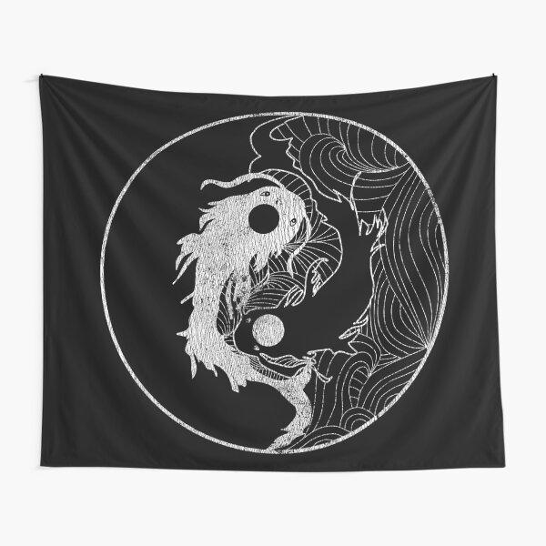 Yin and Yang Coy Fish Tapestry