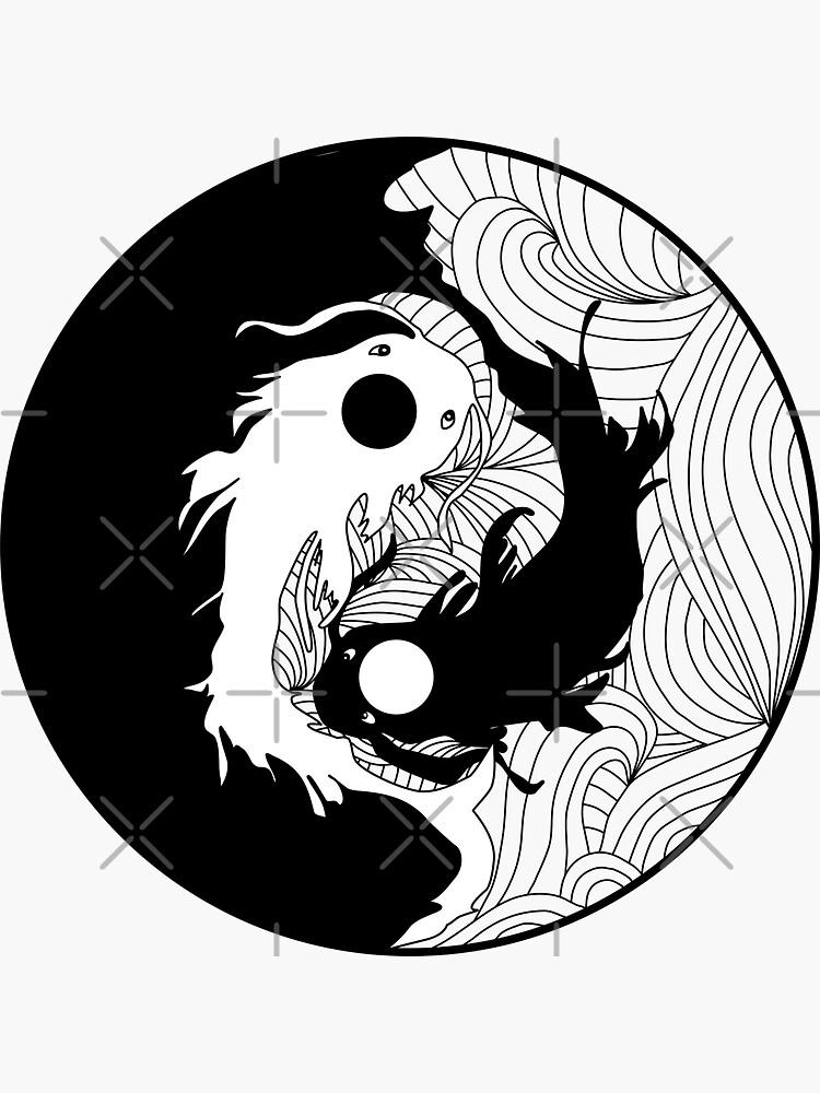 Yin and Yang Coy Fish by emeraldlane
