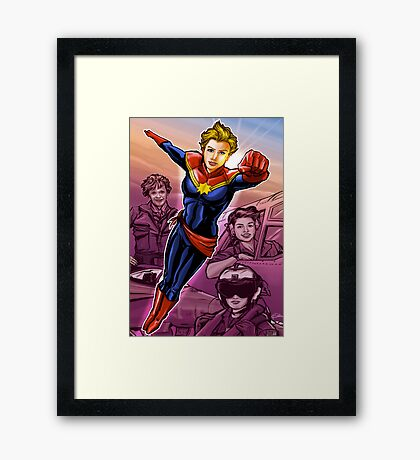 Marvelous Captain Framed Print