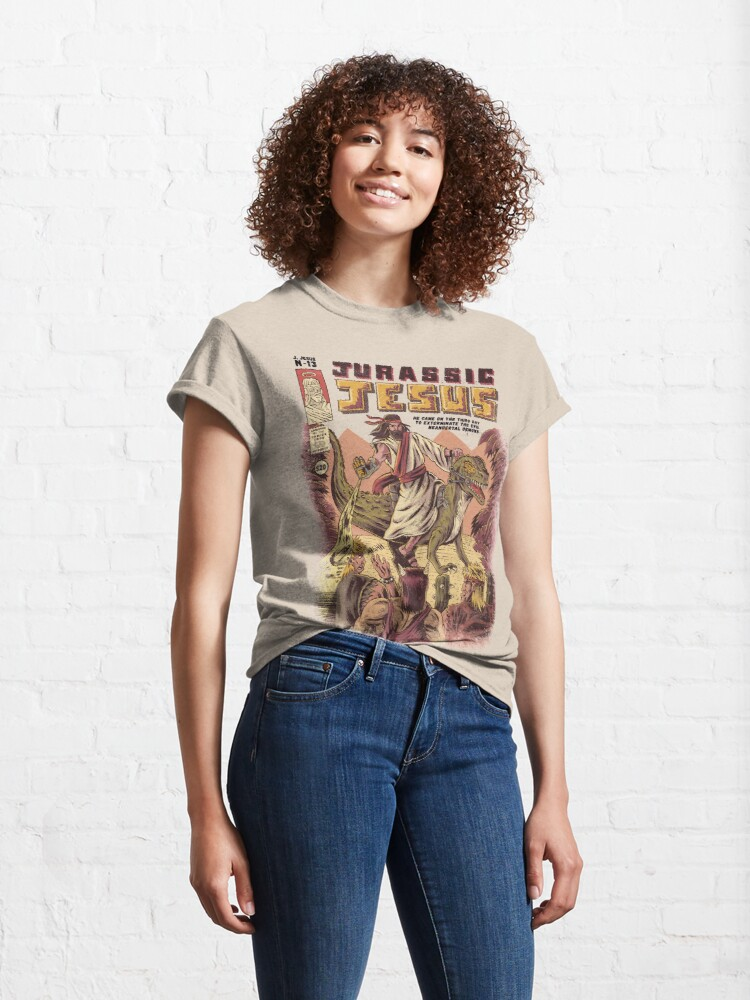 Alternate view of JURASSIC JESUS Classic T-Shirt
