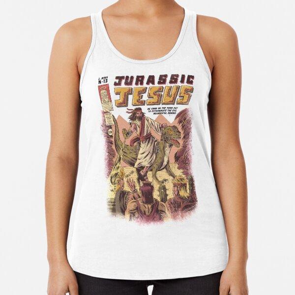 JURASSIC JESUS Racerback Tank Top