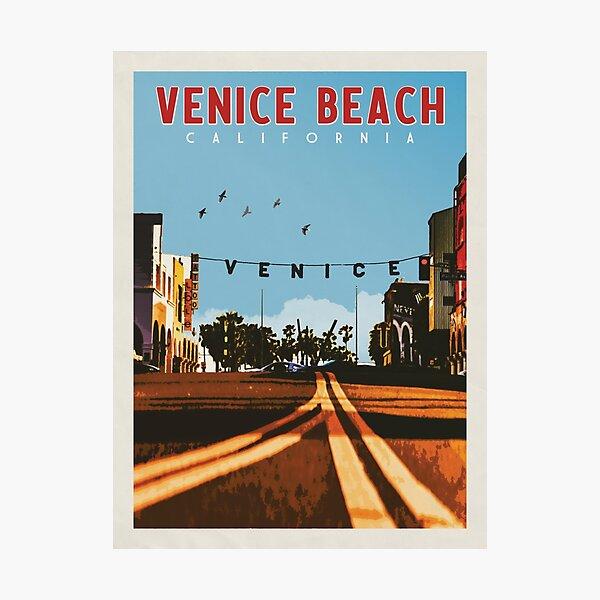 Venice Beach Travel Poster Vintage • Venice Beach California Retro Travel Poster • Venice Beach Sign Photographic Print