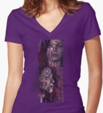 You Can't Walk Away From Your Truth Women's Fitted V-Neck T-Shirt