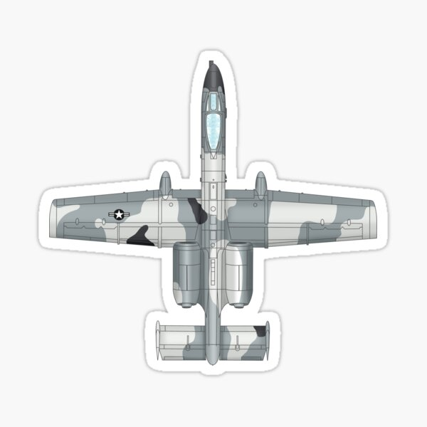 The A-10 Thunderbolt Sticker