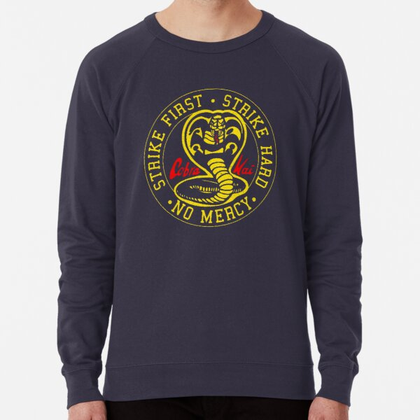 Vintage Cobra Kai Snake - Distressed for Vintage Look Lightweight Sweatshirt