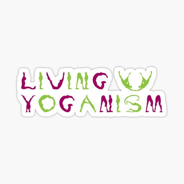 living Yoganism Sticker