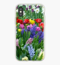 Colorful spring garden iPhone Case