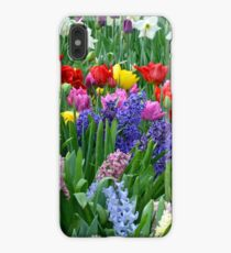 Colorful spring garden iPhone XS Max Case