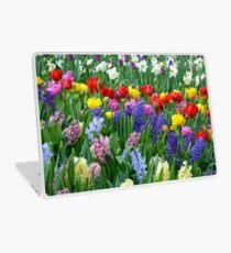 Colorful spring garden Laptop Skin