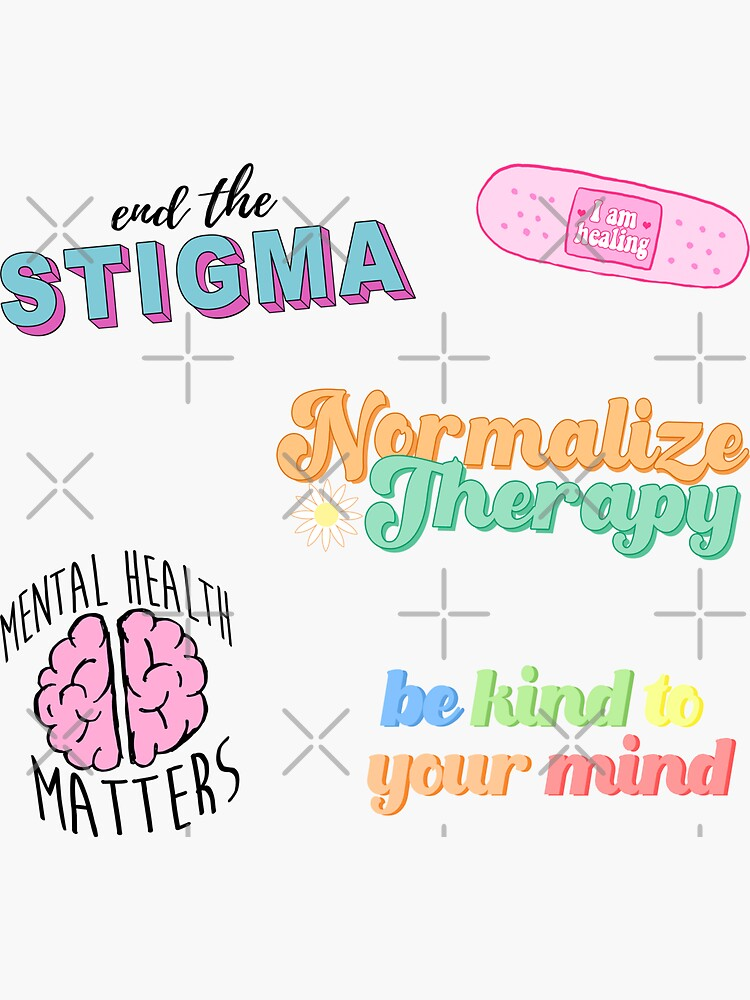Mental Health Matters cute sticker pack by albsbubble