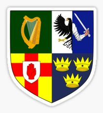 Arms of Four Provinces of Ireland  Sticker