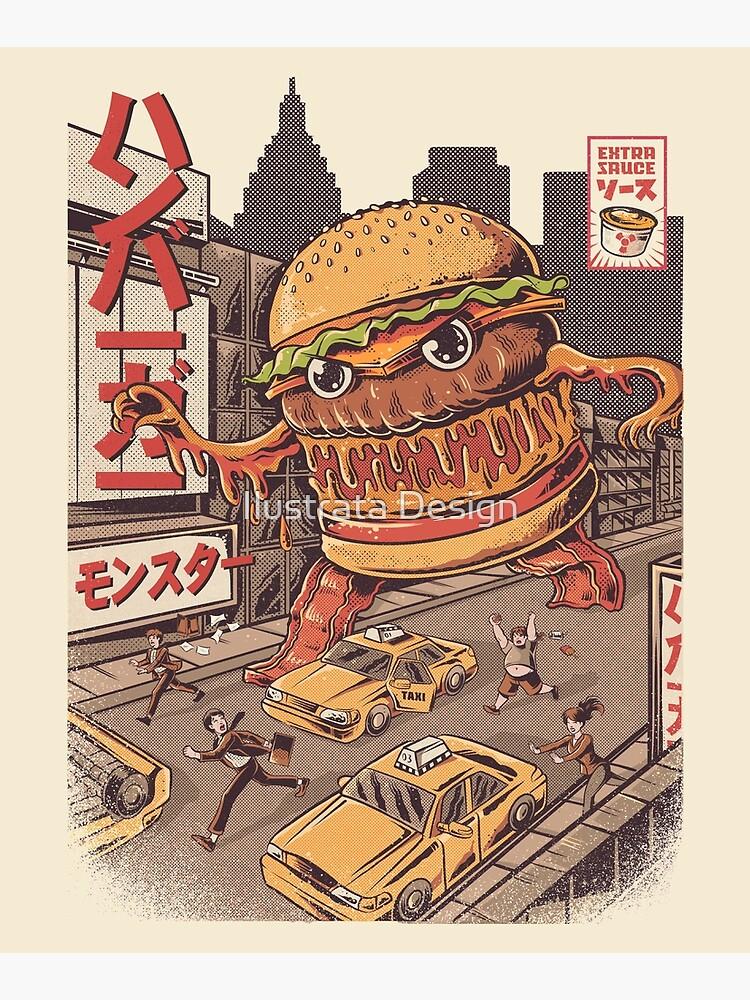 BurgerZilla by ilustrata