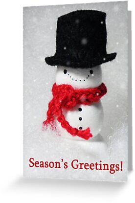 seasons greetings from mr snowman by hellohappy