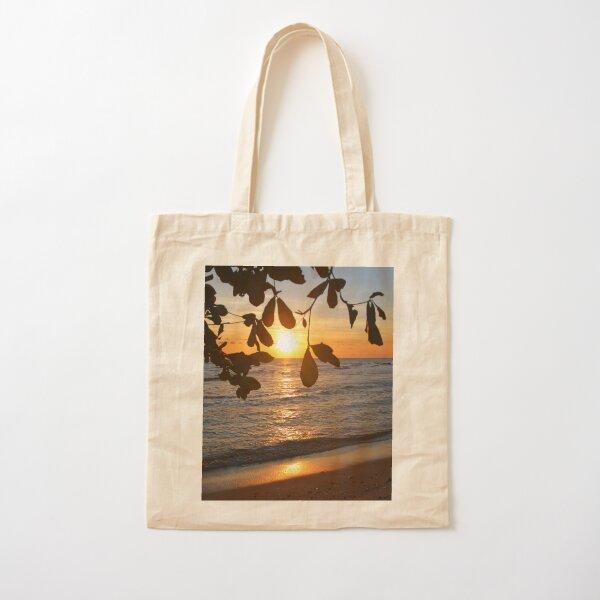 Caribbean Sunset Cotton Tote Bag
