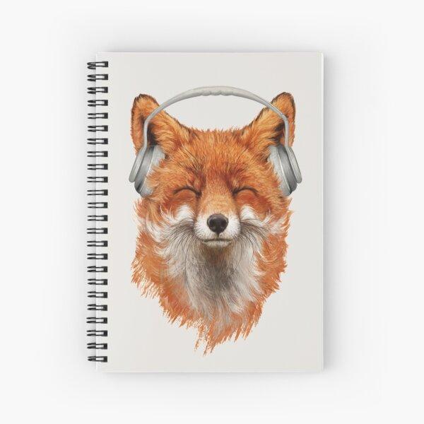 Smiling Musical Fox Spiral Notebook