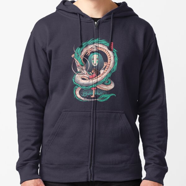 The girl and the dragon Zipped Hoodie