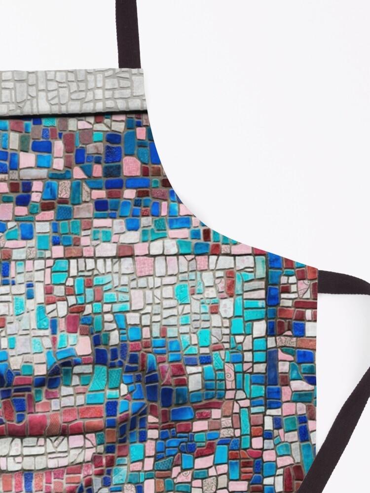 "Alternate view of ""Broken"" (mosaic tile, painted) - ""Smile"" Fine Art series Apron"