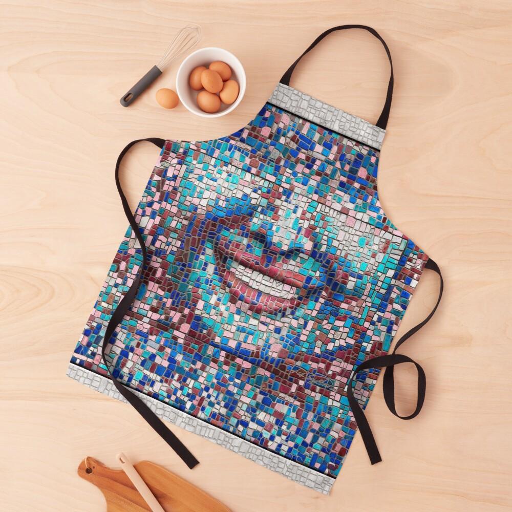 """Broken"" (mosaic tile, painted) - ""Smile"" Fine Art series Apron"