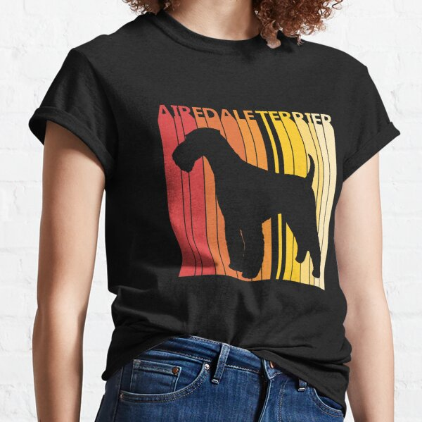 Vintage Airdale Terrier Dog Classic T-Shirt