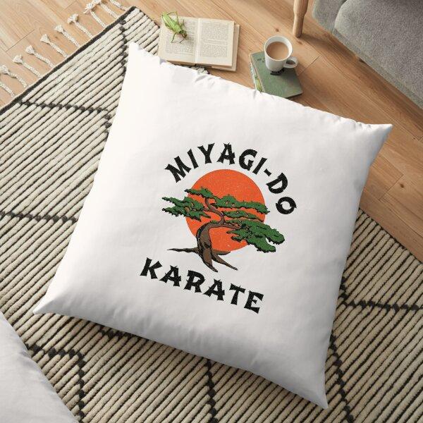 intage Miyagi-Do Karate - Distressed for Vintage Look Floor Pillow