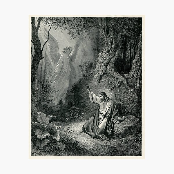 Old Bible Illustration Photographic Print