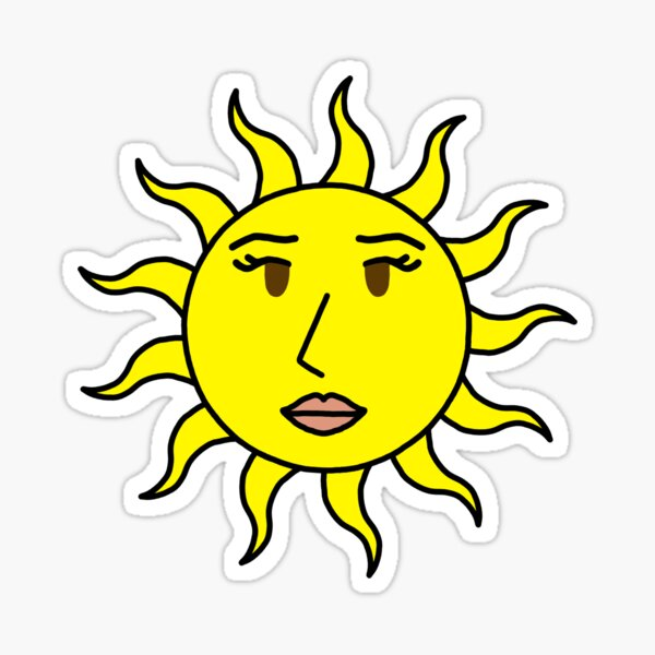 Sun with a sun Sticker