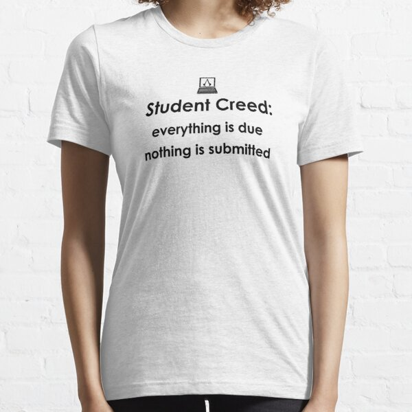 Student Creed (Noir) T-shirt essentiel