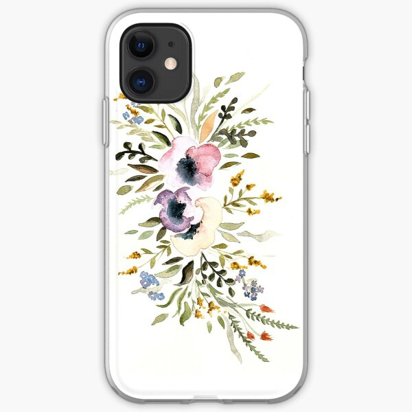 Watercolor flowers iPhone Soft Case