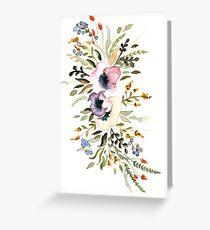 Watercolor flowers Grußkarte