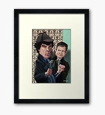 Sherlock Homes Watson and Moriarty at 221B Framed Print