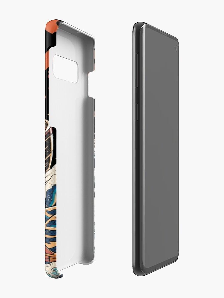 Alternate view of The black Great Ramen Case & Skin for Samsung Galaxy
