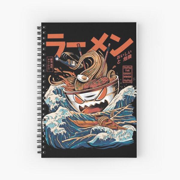 The black Great Ramen Spiral Notebook