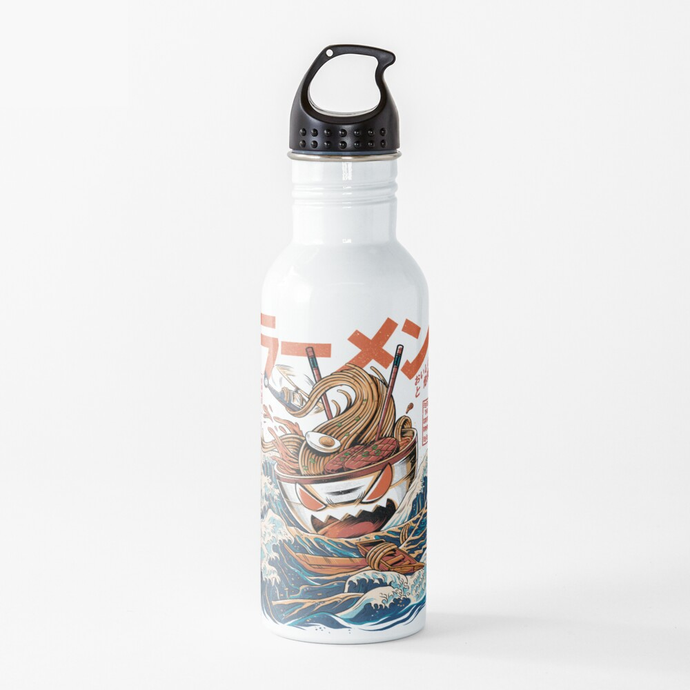 The black Great Ramen Water Bottle