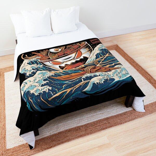 The black Great Ramen Comforter