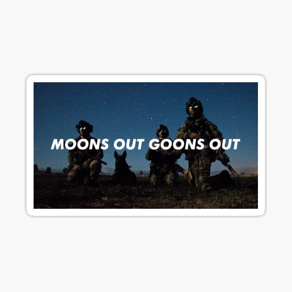 Moons Out Goons Out V3 Sticker