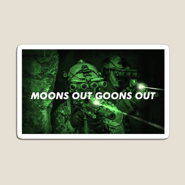 Moons Out Goons Out V4 Magnet