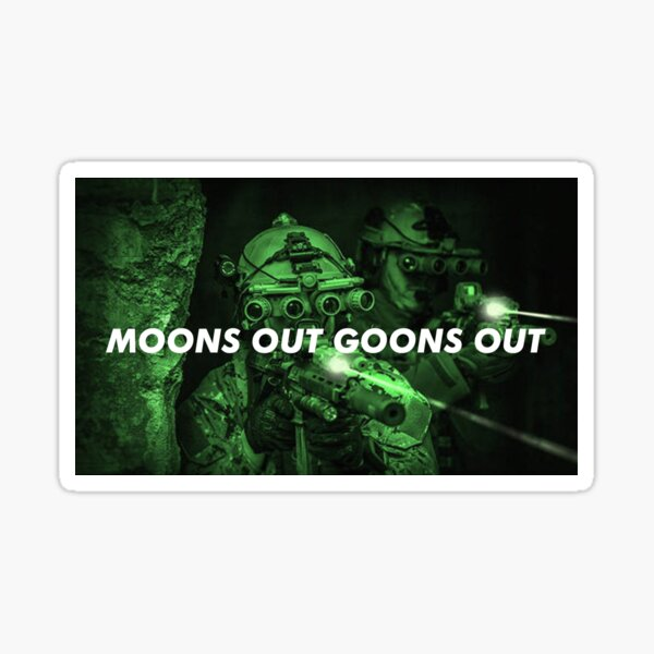 Moons Out Goons Out V4 Sticker