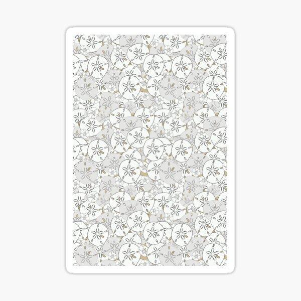 Sand Dollars - White/Gray on Tan Background Sticker