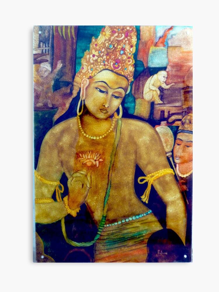 Ajanta Cave Painting Canvas Print