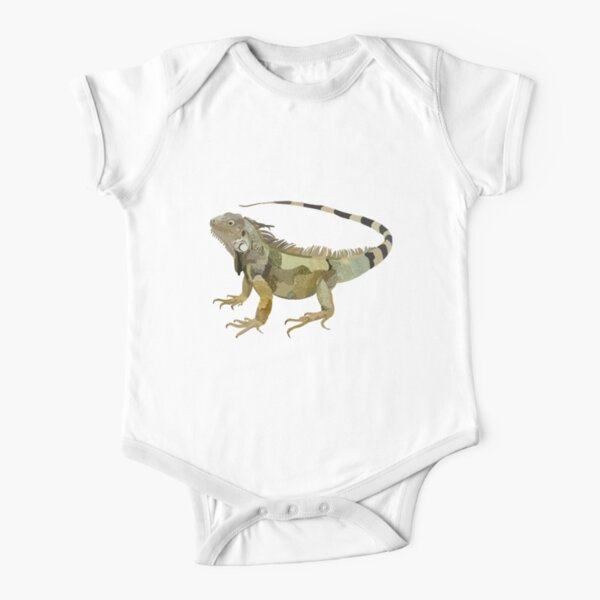 G is for Green Iguana  Short Sleeve Baby One-Piece