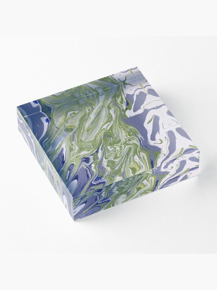 """Alternate view of Abstract Painting-""""Lavender Lady""""-Abstract Art-Abstract Acrylic Block"""