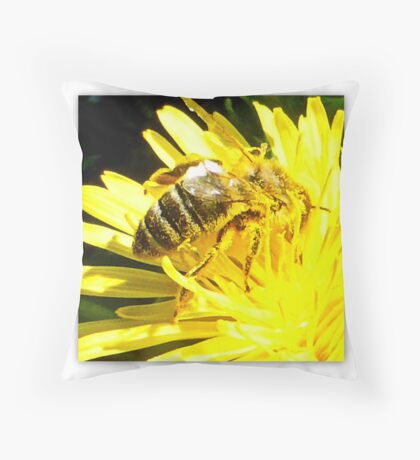 Pollinated Honeybee Throw Pillow