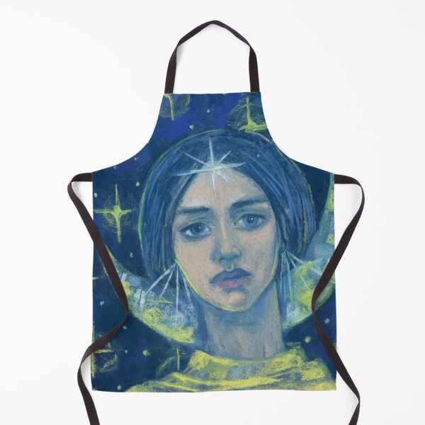 Hecate, Goddess of Moon, Fantasy, Imaginary Portrait Apron
