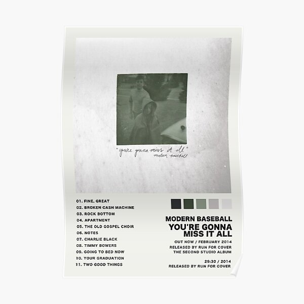 Modern Baseball You're Gonna Miss It All Poster