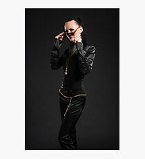 Black catsuit Photographic Print