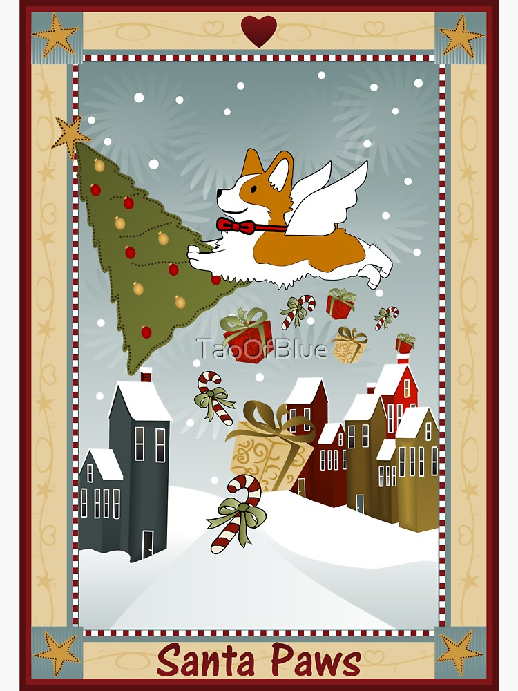 Merry Christmas - Santa Paws (Corgi) by TaoOfBlue