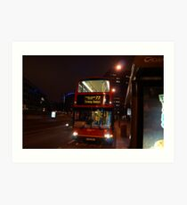 London Bus- Tooting Station Art Print
