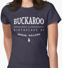 NailBiter - Buckaroo The Birthplace of serial killers Women's Fitted T-Shirt