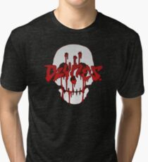 Blood Skull Tri-blend T-Shirt